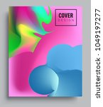 covers background with liquid... | Shutterstock .eps vector #1049197277