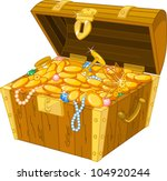 illustration of treasure chest... | Shutterstock .eps vector #104920244