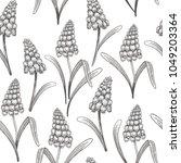 floral vintage seamless pattern ... | Shutterstock .eps vector #1049203364