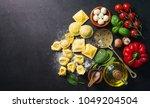 homemade fresh italian ravioli... | Shutterstock . vector #1049204504