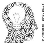 intellect bulb composition of... | Shutterstock . vector #1049210135