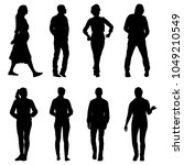 set silhouette of people... | Shutterstock .eps vector #1049210549