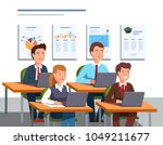 group of business students... | Shutterstock .eps vector #1049211677