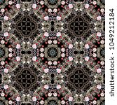 luxury seamless pattern with... | Shutterstock . vector #1049212184