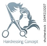 a hairdresser hair salon... | Shutterstock .eps vector #1049213207