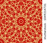 red and gold elegance vintage... | Shutterstock .eps vector #1049214731