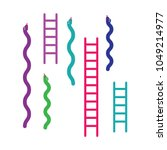 ladders and snakes icons.... | Shutterstock .eps vector #1049214977