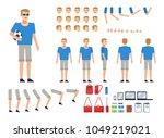 man in sportswear creation kit. ... | Shutterstock .eps vector #1049219021