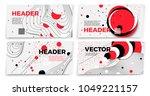 vector new memphis style banner ... | Shutterstock .eps vector #1049221157