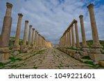 the forum cardo  jerash  jordan | Shutterstock . vector #1049221601