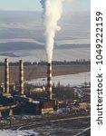 huge working plant in ukraine.... | Shutterstock . vector #1049222159