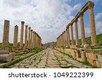 columns in jerash  jordan | Shutterstock . vector #1049222399