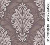 vector volumetric damask... | Shutterstock .eps vector #1049226599