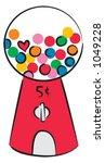 bubble gum machine   Shutterstock .eps vector #1049228