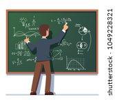 business school professor... | Shutterstock .eps vector #1049228321