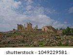 temple of zeus  jerash  jordan | Shutterstock . vector #1049229581