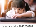 asian children cute or kid girl ... | Shutterstock . vector #1049230901