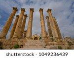 temple of artemis  jerash ... | Shutterstock . vector #1049236439