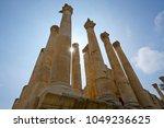 column of temple of zeus ... | Shutterstock . vector #1049236625
