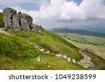 landscape view from cadair... | Shutterstock . vector #1049238599