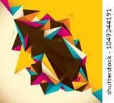 geometric style abstraction.... | Shutterstock .eps vector #1049244191
