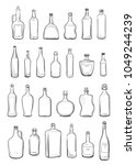 different types of alcohol... | Shutterstock .eps vector #1049244239