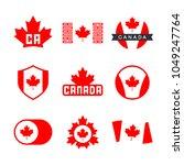 canada flag  logo design... | Shutterstock .eps vector #1049247764