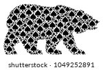 bear concept created of peaks... | Shutterstock .eps vector #1049252891
