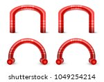 inflatable arch set isolated... | Shutterstock .eps vector #1049254214