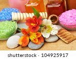 object for the spa. pebble ... | Shutterstock . vector #104925917
