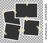 photo frames with adhesive tape ... | Shutterstock .eps vector #1049261885