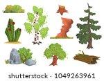 flat vector set of nature... | Shutterstock .eps vector #1049263961