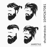 set of mens hairstyle with... | Shutterstock .eps vector #1049267081