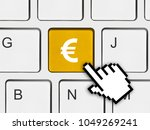 computer keyboard with 2017 key ... | Shutterstock . vector #1049269241