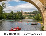 Small photo of Canoeying in Dordogne during summer near Beynac, Perigord Vert