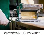 process of production of  pasta.... | Shutterstock . vector #1049273894