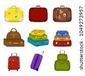 set of various  travel bags...   Shutterstock .eps vector #1049273957