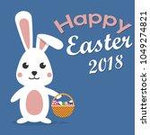 editable vector happy easter...   Shutterstock .eps vector #1049274821