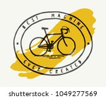 vintage bicycle sign t shirt... | Shutterstock .eps vector #1049277569
