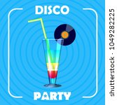 poster for disco party   Shutterstock .eps vector #1049282225