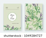 lavender floral pattern cover...   Shutterstock .eps vector #1049284727
