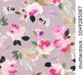 seamless summer pattern with... | Shutterstock . vector #1049285087