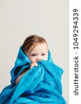 little baby girl tucked in a... | Shutterstock . vector #1049294339