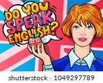 concept of studying english or... | Shutterstock .eps vector #1049297789