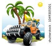 extreme orange off road vehicle ...   Shutterstock .eps vector #1049305301