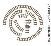vector illustration of railway...   Shutterstock .eps vector #1049306537