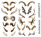 Horn Vector Horned Wild Animal...