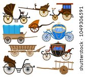 carriage vector vintage... | Shutterstock .eps vector #1049306591