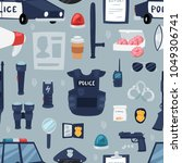 police vector policy signs of... | Shutterstock .eps vector #1049306741