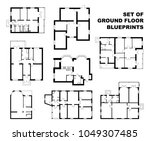 big set of ground floor... | Shutterstock .eps vector #1049307485